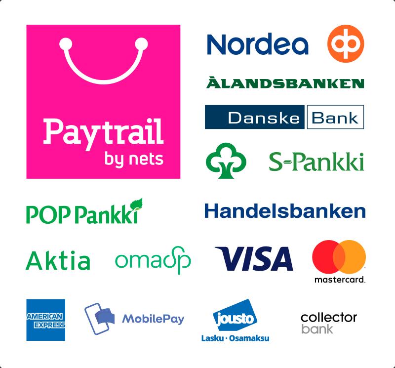 Maksu credit- ja debit-korteilla sekä Mobile paylla