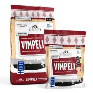 Pentukoiran kuivaruoka Vimpeli tuotepakkaukset