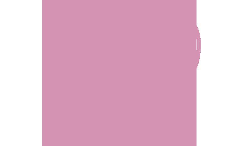 Kissanruoan makutakuu ikoni, kissanpää ja sydän, pinkki