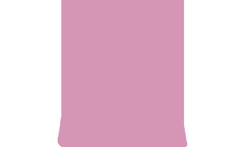 Ruokapakkauksen ikoni, pussi, pinkki