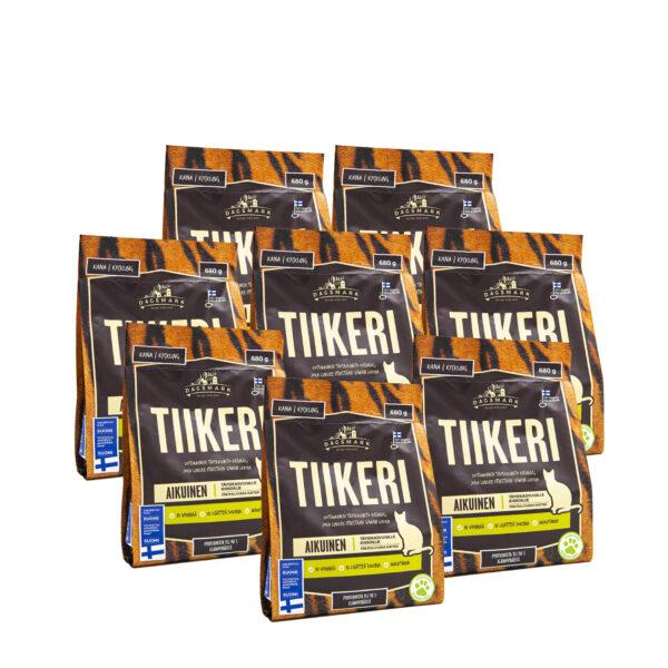 Dagsmark Tiikeri 8 x 680 g